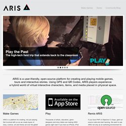 ARIS – Mobile Learning Experiences || Creating educational games on the iPhone