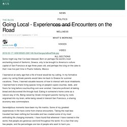 Going Local - Experiences and Encounters on the Road