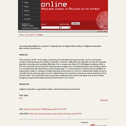 Online - Heidelberg Journal of Religions on the Internet (Napauta kuvaa avataksesi tiedoston!)