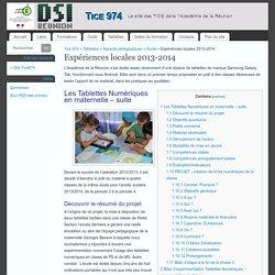 Expériences locales 2013-2014 - Tice 974