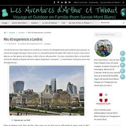 Mes 40 expériences à Londres en famille