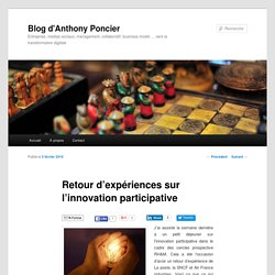 Retour d'expériences sur l'innovation participative
