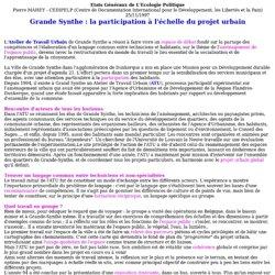 Expériences participatives : 11 Projet urbain à Dunkerque, 12 Euroville à Bâle
