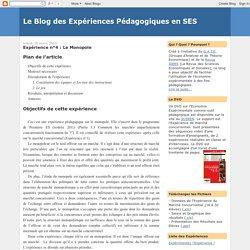 Le Blog des Expériences Pédagogiques en SES: Expérience n°4 : Le Monopole