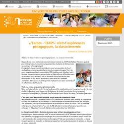 Tarbes - STAPS : récit d'expériences pédagogiques, la classe inversée