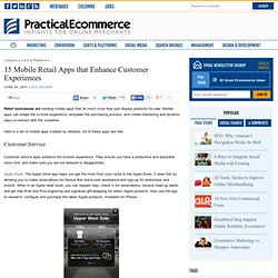 15 Mobile Retail Apps that Enhance Customer Experiences