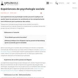 Expériences de psychologie sociale