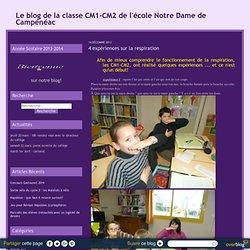 4 expériences sur la respiration - Le blog de la classe CM1-CM2 de l'école Notre Dame de Campénéac