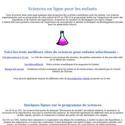 Expériences de sciences pour enfants