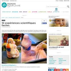 10 expériences scientifiques faciles - Loisirs - Bricolage, projets et expériences