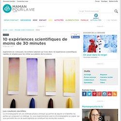 10 expériences scientifiques de moins de 30 minutes - Loisirs - Bricolage, projets et expériences