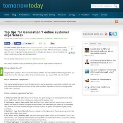 Top tips for Generation Y online customer experiences