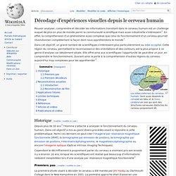 Décodage d'expériences visuelles depuis le cerveau humain