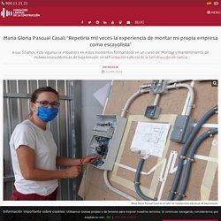 """María Gloria Pascual Casal: """"Repetiría mil veces la experiencia de montar mi propia empresa como escayolista"""""""