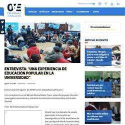 """Entrevista: """"Una experiencia de Educación Popular en la universidad"""""""