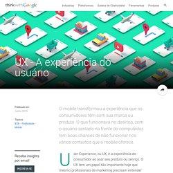 UX - A experiência do usuário