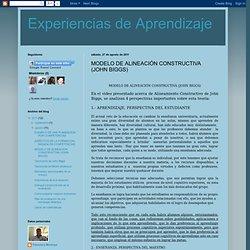 MODELO DE ALINEACIÓN CONSTRUCTIVA (JOHN BIGGS)