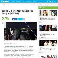 Teens Experiencing Facebook Fatigue [STUDY]