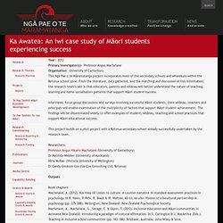 Ka Awatea: An iwi case study of Māori students experiencing success