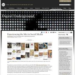 Experiencing the Met in Social Media