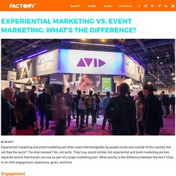 Experiential Marketing vs. Event Marketing: What's the Difference?