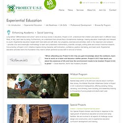 Experiential Education « Project U.S.E. [urban suburban environments]