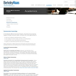 Berkeley MBA for Executives Program
