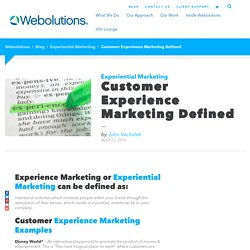 Experiential Marketing Defined