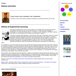 Experiential Learning Toolbox: History and Links