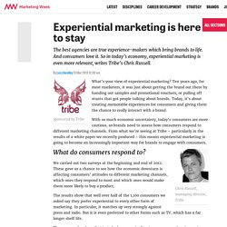 Experiential marketing is here to stay - Marketing Week