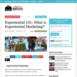 Experiential 101: What is Experiential Marketing?