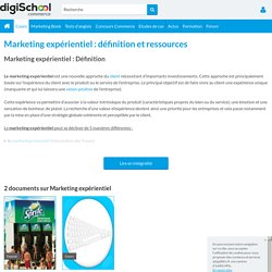 MARKETING EXPERIENTIEL : définition, exemple de marketing expérientiel