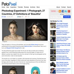 Photoshop Experiment: 1 Photograph, 27 Countries, 27 Definitions of 'Beautiful'