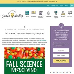 Fall Science Experiment: Dissolving Pumpkins - Teaching with Jennifer Findley