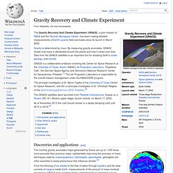 Gravity Recovery and Climate Experiment