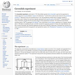 Cavendish experiment - Wikipedia, the free encyclopedia
