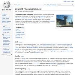 Concord Prison Experiment