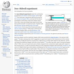 Ives–Stilwell experiment