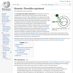 Kennedy–Thorndike experiment