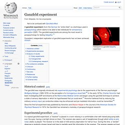 Ganzfeld experiment