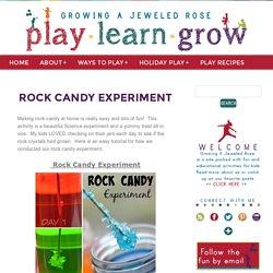 Rock Candy Experiment
