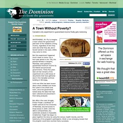 A Town Without Poverty?: Canada's only experiment in guaranteed income finally gets reckoning