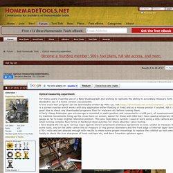Optical measuring experiment. - HomemadeTools.net