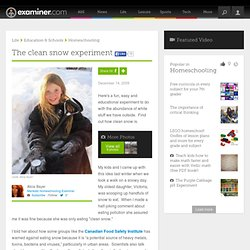 The clean snow experiment - Mankato Homeschooling
