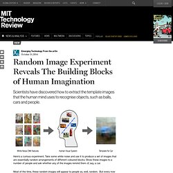 Random Image Experiment Reveals The Building Blocks of Human Imagination