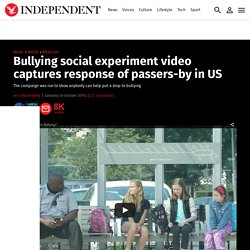 Bullying social experiment video captures response of passers-by in US