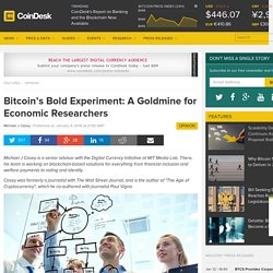 Bitcoin's Bold Experiment: A Goldmine for Economic Researchers