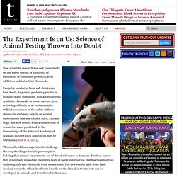 The Experiment Is on Us: Science of Animal Testing Thrown Into Doubt