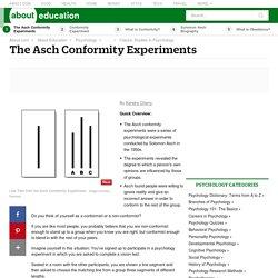 The Asch Experiment - Understanding Conformity in Groups