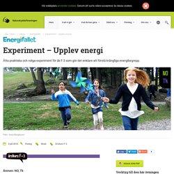Experiment – Upplev energi